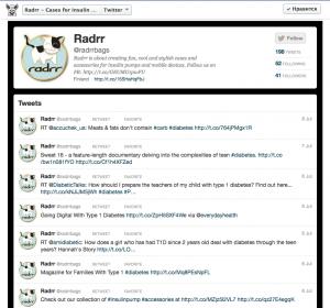Radrr Twitter tab