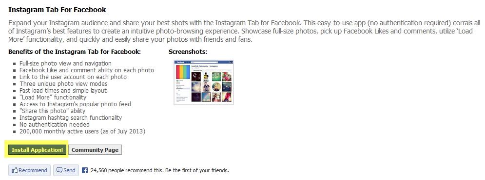 Как создать вкладку Instagram с помощью Instatab