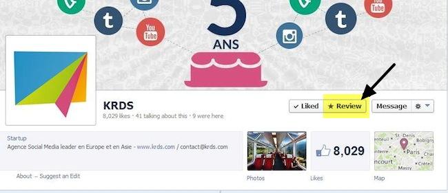 Как добавить кнопку отзывов на страницу Фейсбук