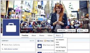 Новый дизайн страниц на Фейсбук - вкладки