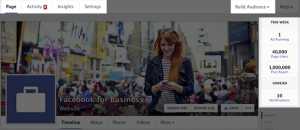 Обложка и панель администратора на Фейсбук