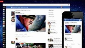 Предыдущий новый дизайн Фейсбук