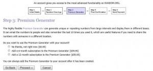 Регистрация на random.org - шаг 3