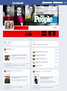Старый дизайн страницы на Фейсбук