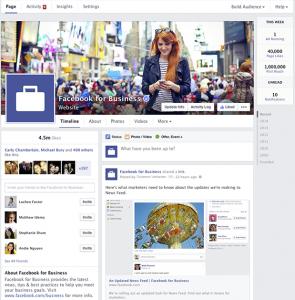 Новый дизайн страниц на Фейсбук