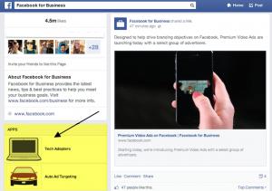 Вкладки на страницах Фейсбук с новым дизайном