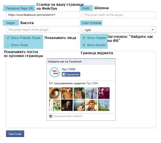 Как установить блок Нравится страница Фейсбук на сайт