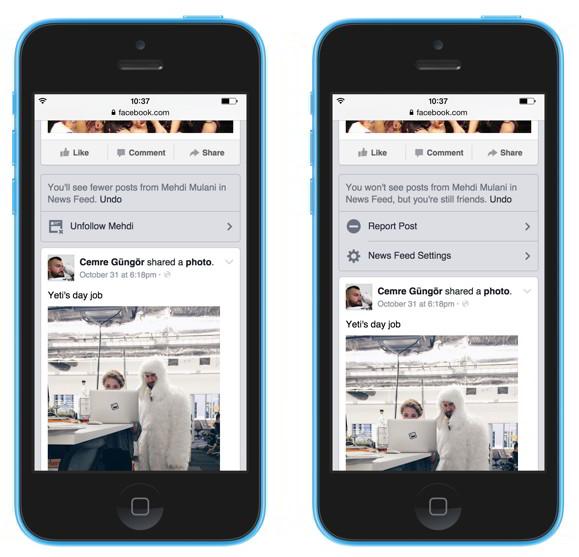 Контроль за тем, что я вижу в ленте новостей на Фейсбук - отменить подписку