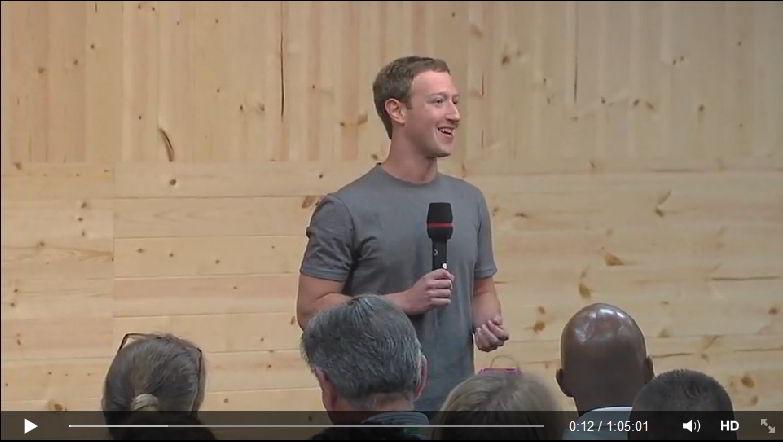 Марк Цукерберг об падающем охвате, Мессенджере и о себе