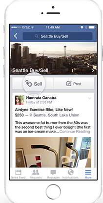 Фейсбук тестирует кнопку Продать в группах