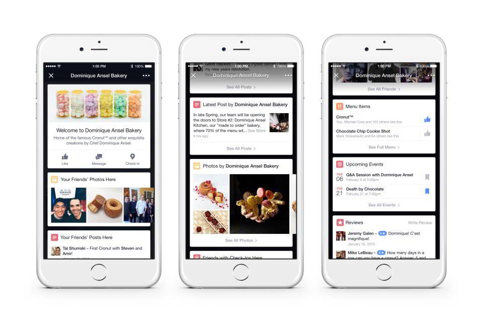 Фейсбук тестирует новую функцию Place Tips или подсказки для мест