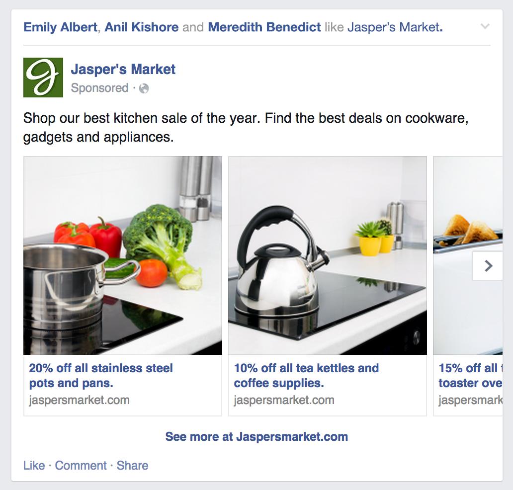 Фейсбук запускает новый вид рекламы - Product Ads (товарные объявления) миниатюра