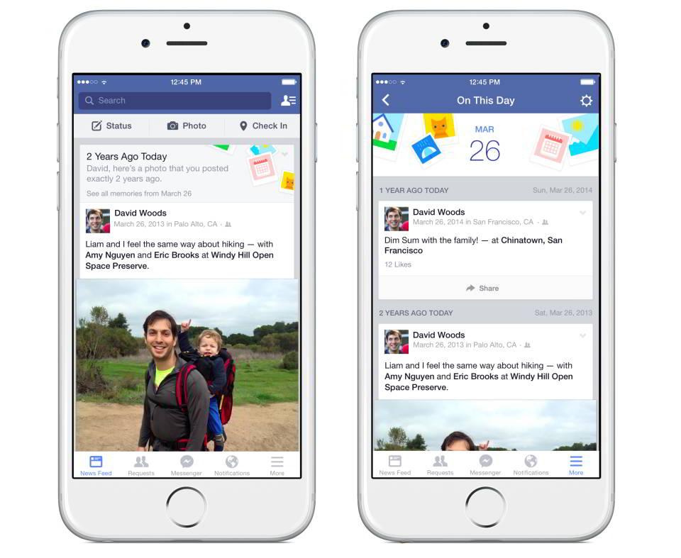 Новая фишка на Фейсбук - страница В этот день