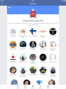 Приоритет в показе мобильное приложение Фейсбук