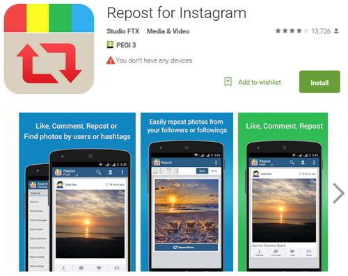Как сделать репост в Инстаграм - Repost for Instagram 2