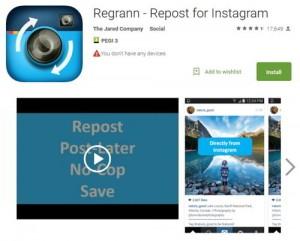 Как сохранить фотографию из Инстаграм - Regrann