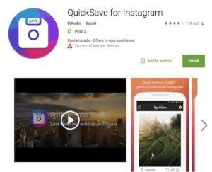 Приложение QuickSave for Instagram