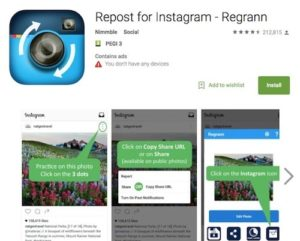 Приложение Repost for Instagram - Regrann