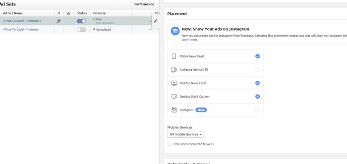 Управление рекламой в Инстаграм через Фейсбук (Power Editor)