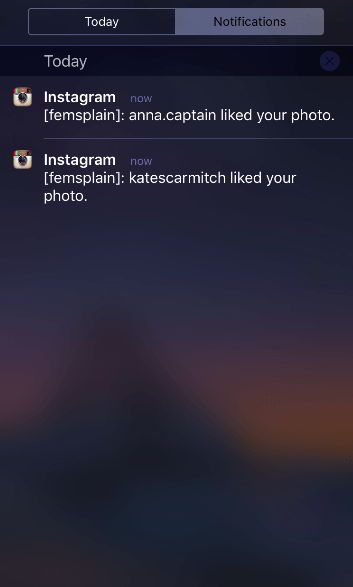 Уведомления от нескольких профилей в Инстаграм