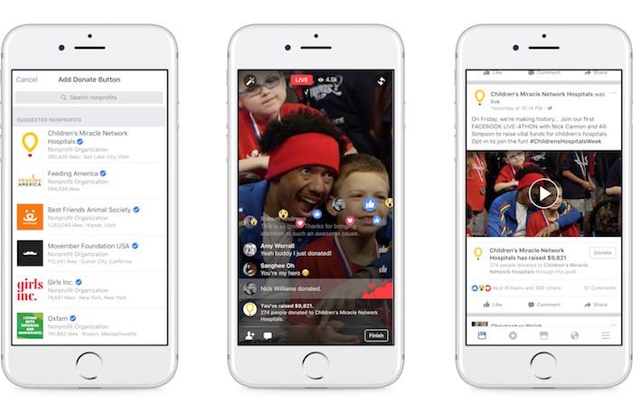 Кнопка пожертвовать в прямой трансляции в Фейсбук