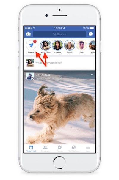Истории Фейсбук и Директ