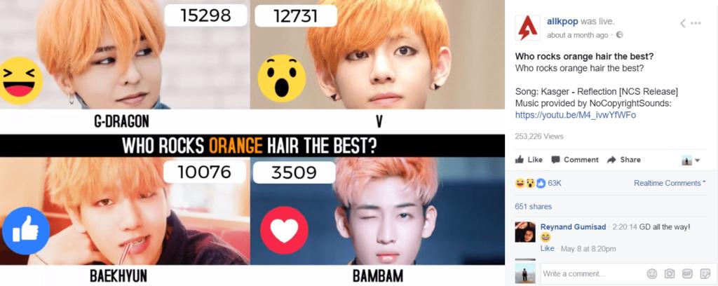 live poll korean pop k-pop