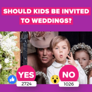 should kids be invited to weddings live poll facebook