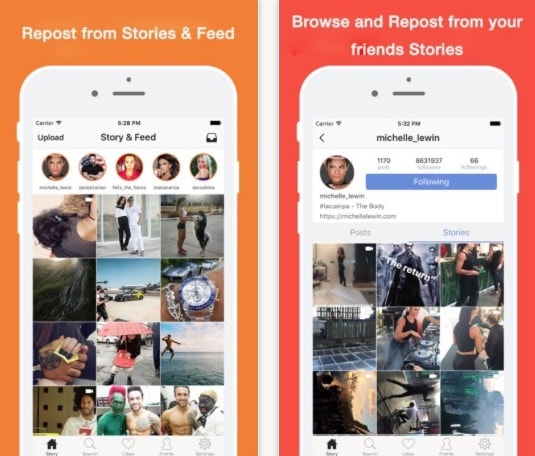 Приложение Instant Repost for Instagram-Stories