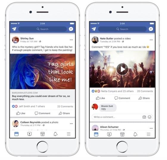 Обновление алгоритма - Фейсбук против публикаций, вымогающих вовлечённость подписчиков
