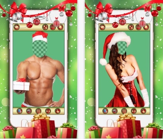 Приложение Sexy Santa Photo Editor - Mr & Mrs Claus Costumes