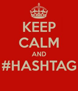 Keep calm and hashtag