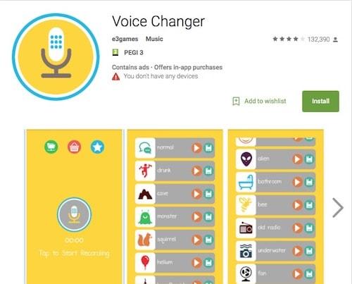 Приложение для изменения голоса Voice Changer