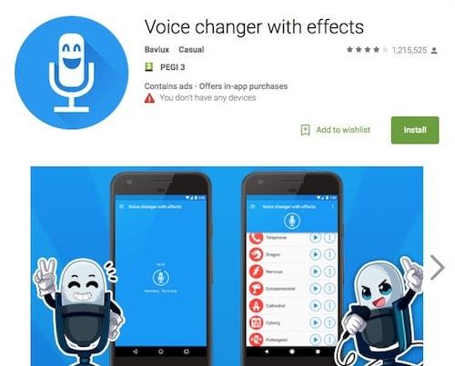 Приложение для изменения голоса Voice changer with effects