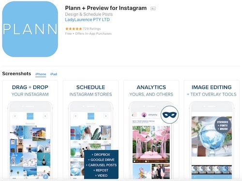 Приложение Plann + Preview for Instagram