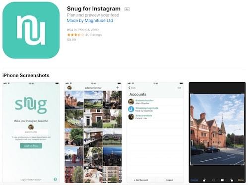 Приложение Snug for Instagram