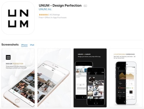 Приложение UNUM - Design Perfection