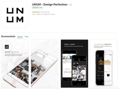 Приложение UNUM - Design Perfection