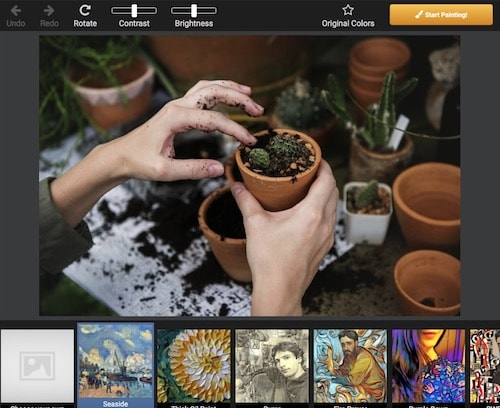 Как превратить фотографию в картину на компьютере - Dreamscope