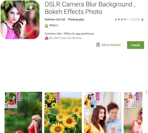 Приложение DSLR Camera Blur Background , Bokeh Effects Photo