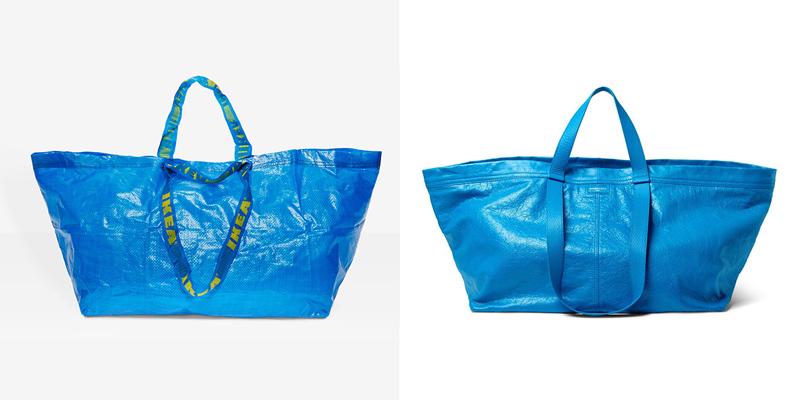 Синяя сумка от Икеи и ее вдохновение от Balenciaga