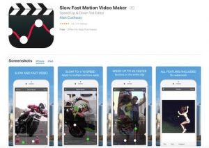 Приложение iOS для замедления видео - Slow Fast Motion Video Maker